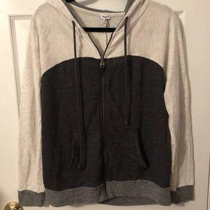 Splendid Zip Up Sweatshirt Size Medium With Hood.